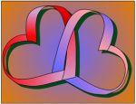 Möbius hearts